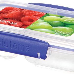 Blue Clips, Sistema KLIP IT Round Food Storage Container with Straining Basket